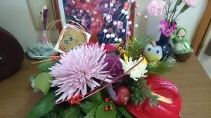 お正月を彩るお花