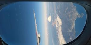 機内から望む富士山